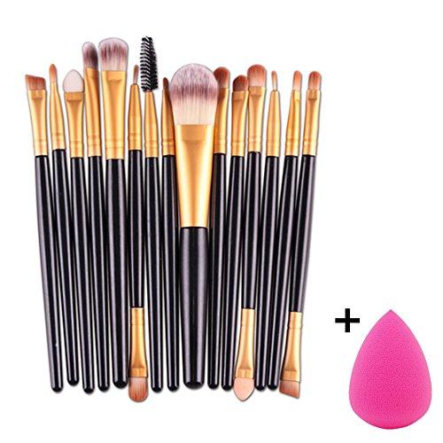 6pcs Makeup Brushes Powder Foundation Eyeshadow Eyeliner Brush (Black+ Red) - 8