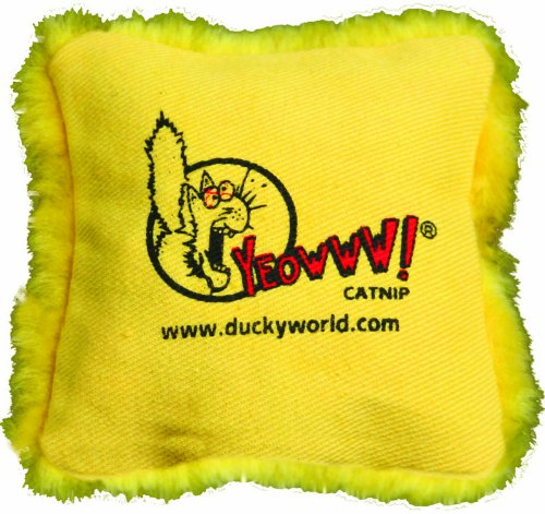 Yeowww! Catnip Pillows Yellow (Single), My Pet Supplies