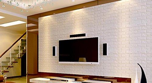 GYX Wasserdicht Fliesen Muster Solide Bumper Schaumstoff Schaumstoff Elastic Tile Selbstklebendes Wand Aufkleber 3D Tapete, 60*60cm