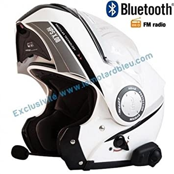Amazonfr Casque Givi X08 Bluetooth Blanc Avec Radio Fm Rds