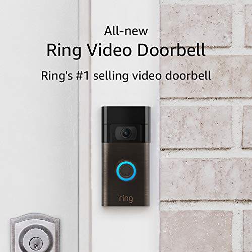 All-new Ring Video Doorbell – 1080p HD video, improved motion detection, easy installation – Venetian Bronze (2020 release)