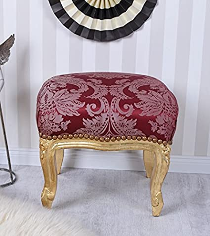 Antik Hocker Barock Gold Sitzhocker Fussbänkchen Schemel Fußschemel Fusshocker