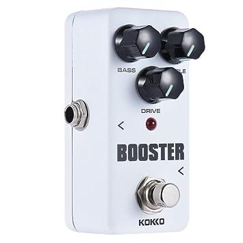 KOKKO FBS2 Mini Booster Portable Pedal Ecualizador de 2 Bandas Pedal de Efectos de Guitarra: Amazon.es: Instrumentos musicales