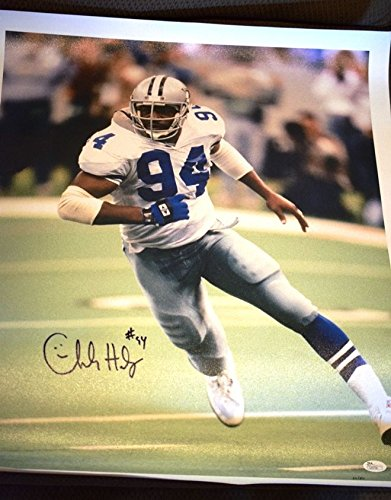 CHARLES HALEY COWBOYS JSA SIGNED 20X24 GICLEE CANVAS PRINT AUTHENTIC AUTOGRAPH ()