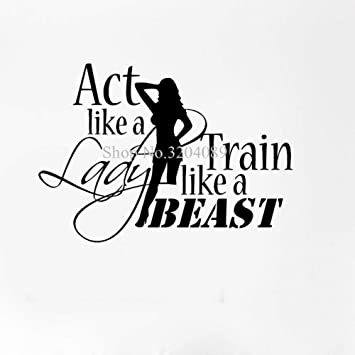 Schone Vinyl Aufkleber Sport Zitate Motivation Bodybuilding Gym Damen Fitness Selbstklebende Kunst Wandaufkleber Wandbild Yy555 Teal 60x42cm Amazon De Baby