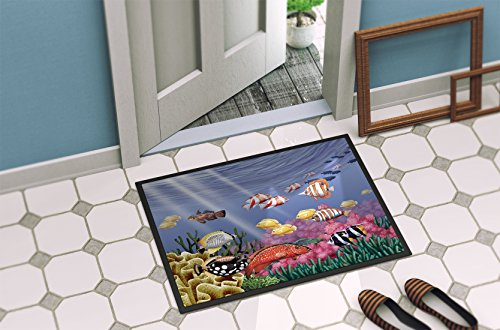 Caroline's Treasures PTW2032JMAT Undersea Fantasy 7 Indoor or Outdoor Mat 24x36, 24H X 36W, Multicolor