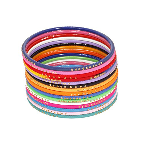 Ratna Creation Indian Bollywood Multi Color 12 Bangles Set Women Gorgeous Traditional Bridal Wedding Bangles