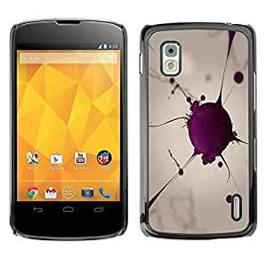 Be Good Phone Accessory // Dura Cáscara cubierta Protectora Caso Carcasa Funda de Protección para LG Google Nexus 4 E960 // Blood Cell