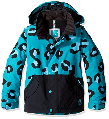 Burton Girl's Echo Jacket, Everglade Super Leopard/True Black, Large ()