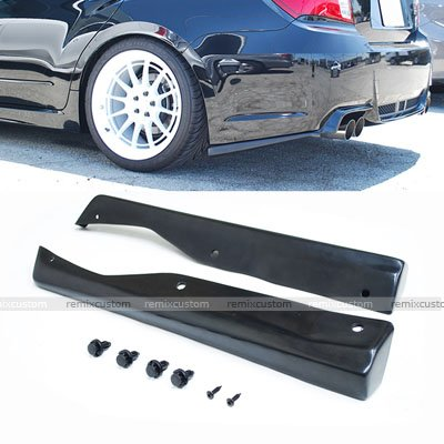 Remix Custom Rear Apron for 2011 2012 2013 Subaru Impreza WRX/STI Sedan PU Rear Bumper Lip (Rear Bumper Apron)