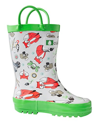 Oakiwear Kids Waterproof Rubber Rain Boots with Easy-On Handles Timberland Critters 4csMII