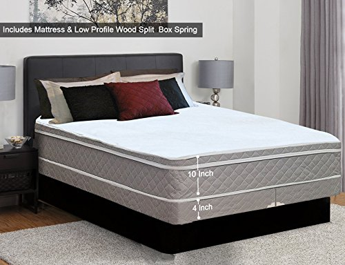 "Used, Greaton Medium 10 Eurotop Innerspring Mattress 4"" Split for sale  Delivered anywhere in Canada"