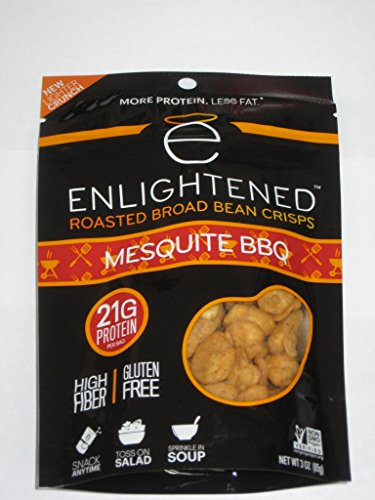 ENLIGHTENED BROAD BEAN (FAVA BEANS) CRISPS 6-3 oz BAGS (MESQUITE ()