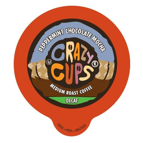 Crazy Cups Flavored Decaf Coffee, for the Keurig K Cups 2.0 Brewers, Seasonal Peppermint Chocolate Mocha, 22 Count...