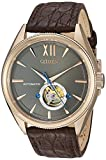 Citizen Men's 'The Signature Collection' Japanese Automatic Gold and Leather Dress Watch, Color:Brown (Model: NB4003-01H)