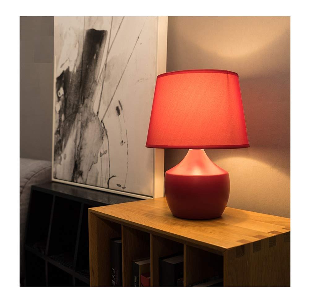 PPWAN テーブルランプ寝室のベッドサイドクリエイティブセラミックデスクランプシンプルでモダンな赤暖かい読書ランプ調光結婚式の部屋ダウリーチャンミン -4823 電気スタンド (色 : Remote control) B07R7JV8XD Remote control