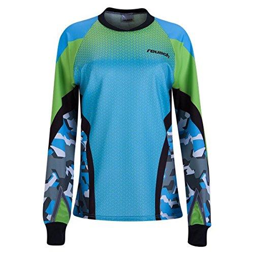 Reusch Soccer Women's Camo Pro-Fit Long Sleeve Goalkeeper Jersey, Aqua Blue, Medium (Long Sleeve Jersey Reusch)