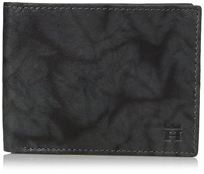 Haggar Men's Rfid Blocking Antique Leather Passcase Security Wallet