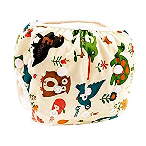 Babies Swim Diaper Nappies Waterproof Reusable Breathable Adjustable One Size Snaps For Infants Baby Shower (Style A)