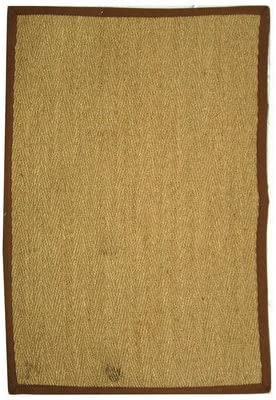 Safavieh NF115 Natural Fiber Area Rug 12 L x 9 W Large Rectangle Natural Brown