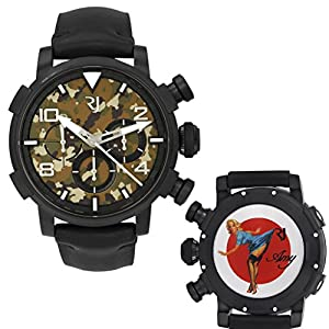 Romain Jerome Pinup DNA WWII Amy Blue Chronograph Auto Men Watch RJ.P.CH.002.01