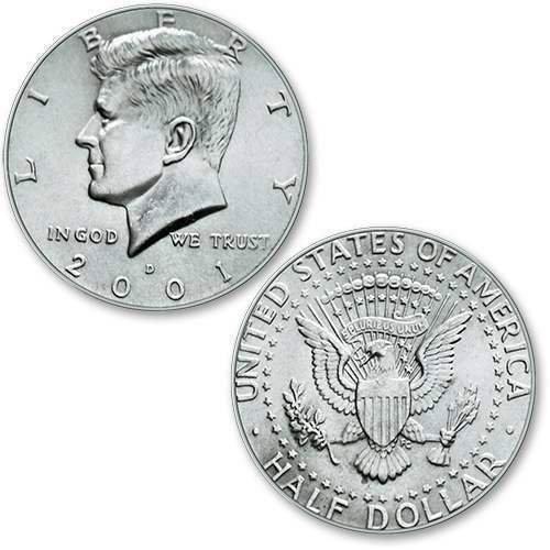 U.S. Half Dollar ungimmicked regular - singolo pezzo - Magia con Monete - Giochi di Prestigio e Magia SOLOMAGIA