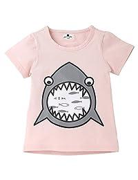 SUNSEE Women's Clothes Infant Kid Shark Cartoon Print T-Shirt - Tops Boy Girl SummerChildren Shirts Tee,2019 New