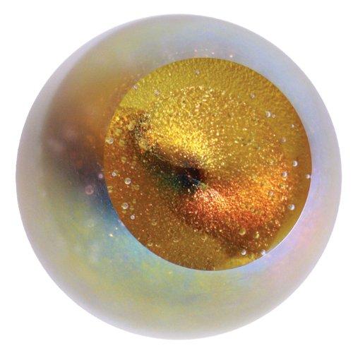 Glass Eye Studio Cat's Eye Nebula Blown Glass Paperweight