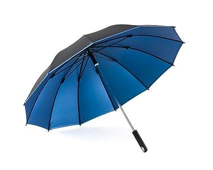 Paraguas, mango largo Hombres Comercio Anti-UV Protección contra el viento Protección solar Lluvia