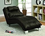Coaster Home Furnishings Contemporary Chaise, Dark Brown