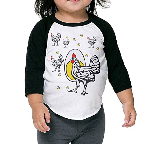 Saroyan Roseanne Chicken Toddler Raglan T-Shirts Baseball Tee 3/4 Sleeve 2 Toddler