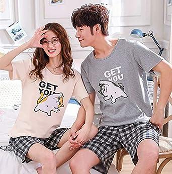HoEOQeT Pijamas de primavera y verano para parejas, Shiba Inu ...