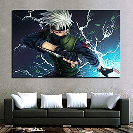 Amazon Com 1 Piece Naruto Anime Poster Hatake Kakashi Canvas Art Hd Wall Picture For Children Room 8x12inch Posters Prints