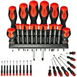 SPARES2GO Large & Small Mechanic / Engineer Precision Screwdriver Set (18 Piece) by Spares2go