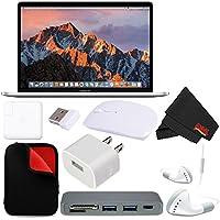 Apple 15 MacBook Pro, Retina, Touch Bar, 2.8GHz Intel Core i7 Quad Core, (#MPTU2LL/A) + MicroFiber Cloth + 2.4 GHz Slim Optical Wireless Bluetooth + Padded Case For Macbook Bundle