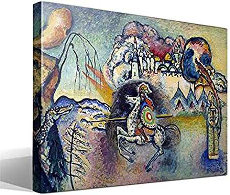 Cuadro Canvas San Jorge y el dragón de Vasili Kandinski