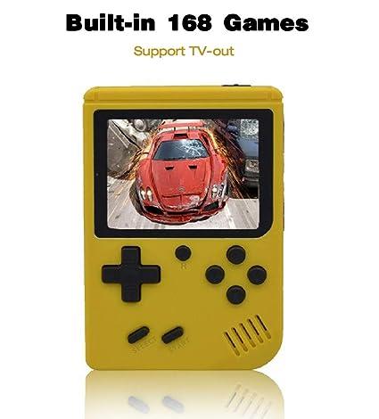 Anbernic Consolas de Juegos Portátil , Consolas de Juegos de Mano Retro FC Handheld Game Console 3 Pulgadas 168 Classic Game Console - Amarillo