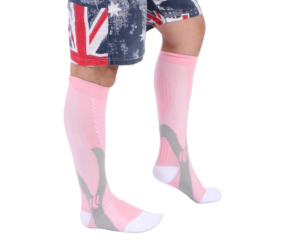 Compression Socks - Best Graduated Athletic & Medical Use for Men & Women, for Running, Flight, Travel, Nurses - Boost Performance, Blood Circulation & Recovery - 1 Pair SLTY
