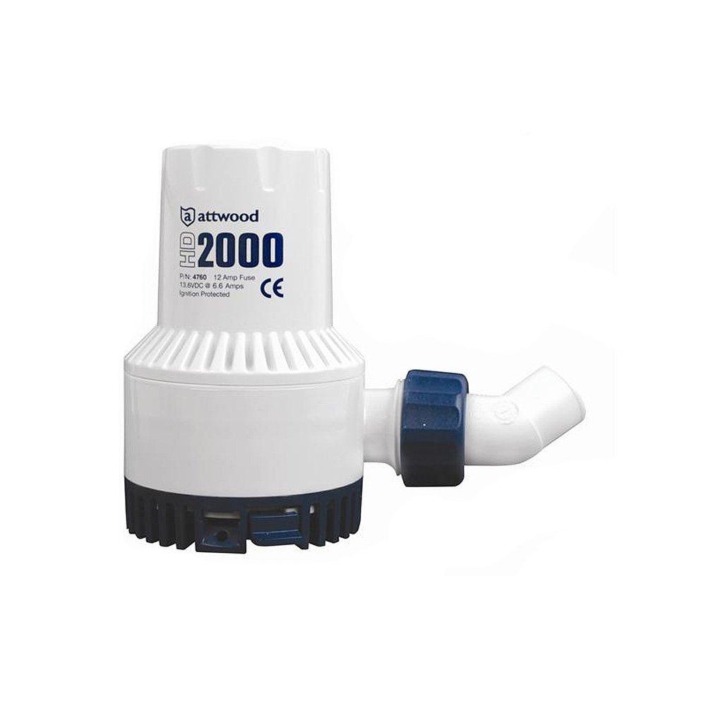 Attwood Heavy-Duty Bilge Pump 2000 Series - 12V - 2000 GPH