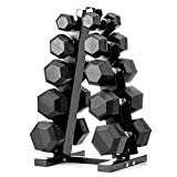papababe 150lb Dumbbell Set with A-Frame Dumbbell