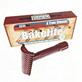 Phoenix Bakelite Open Comb Slant Safety Razor - Oxblood Red