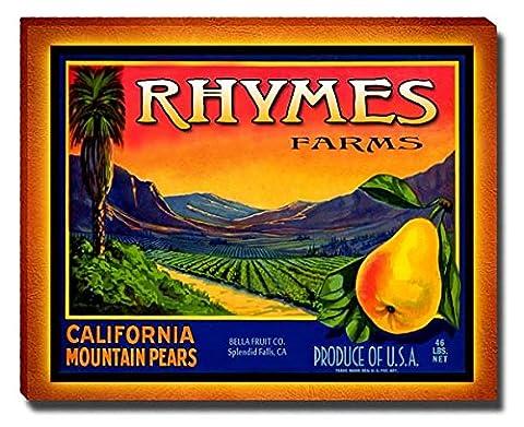 Rhymes Fruit Farm Gallery Wrapped Canvas Print (Cvs Rhymes)