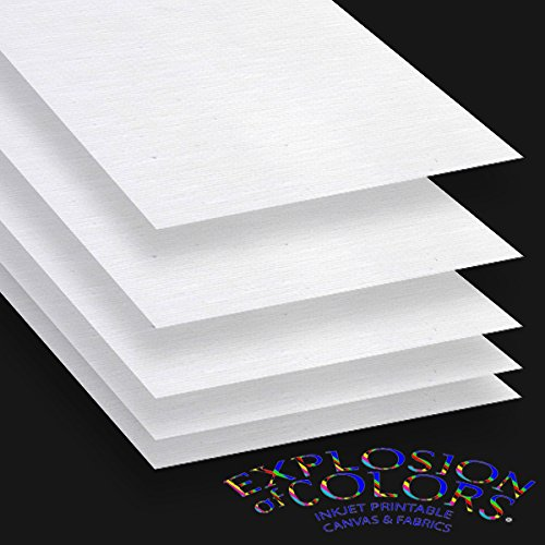 Printable Inkjet Primed Gessoed 8.5' x 11' Canvas Paper Sheets (20 sheets)