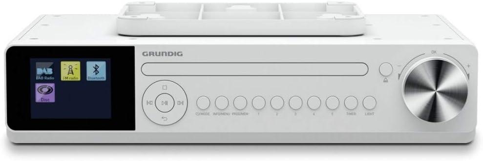 Grundig Dkr 2000 Bt Dab Cd Küchenradio Mit Bluetooth Dab Empfang Und Cd Player Weiß Heimkino Tv Video