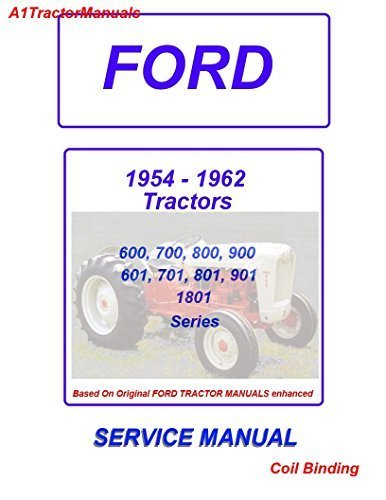 1955 1960 ford tractor series 600 700 800 900 1801 service manual