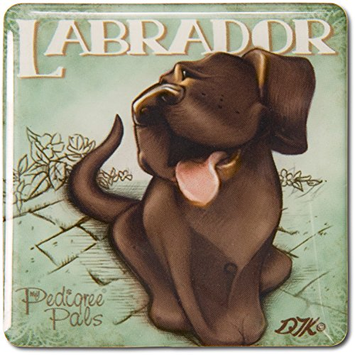 (Pavilion Gift Company 46055 Chocolate Labrador Refrigerator Magnet, 2-1/2-Inch, Easel Back)