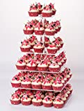 6 tier cupcake stand - YestBuy 6 Tier Maypole Square Wedding Party Acrylic Cupcake Display Stand (Normal 6 Tier Square with Base)