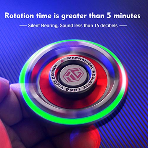 Fidget Spinner for Adults and Kids Metal Finger Hand Spinner Toys with Luminous Light Fidget Spinner Need Absorb Light then Release in Dark Fidget Spinners Stress Anxiety ADHD Relief Figets Toy