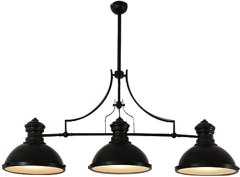 GLXDDB Negro E27X3 Lámpara de Cabeza Estilo Americano Retro ...