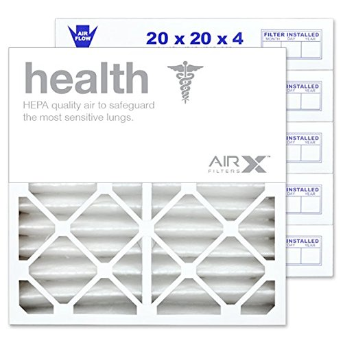 AIRx Filters Health 20x20x4 Air Filter MERV 13 Replacement for White Rodgers FR1600M-108 FR1600M-111 to Fit Media Air Cleaner Cabinet White Rodgers ACM1600M, 6-Pack